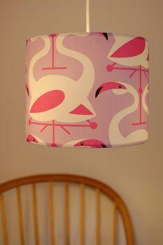 A gorgeous flamingo lampshade by Jorja Wilkinson