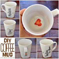 DIY Sharpie Coffee Mug    A little about a Lot