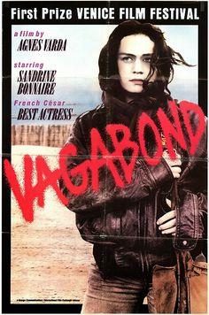 Poster for VAGABOND (Agnès Varda, France, 1986)