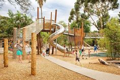 Adelaide Zoo – Nature's Playground by WAX Design « Landscape Architecture P. - Adelaide Zoo – Nature's Playground by WAX Design « Landscape Architecture Platform Kids Indoor Playground, Playground Design, Children Playground, Landscape Architecture, Landscape Design, H Design, Parking Design, Exterior, Camping