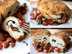 Caprese Chicken - Million Ideas Club Caprese Chicken, Crispy Chicken, Italian Seasoning, Salmon Burgers, Dishes, Cooking, Ethnic Recipes, Food, Chicken Flatbread