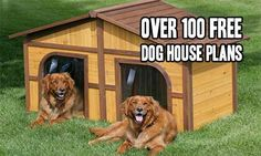 Over 100 Free Dog House Plans