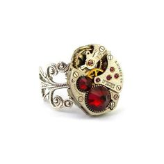 Steampunk Rings ❤ liked on Polyvore