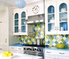 I'm not sure how much of the bright backsplash I could actually handle in our home- but I'm kind of drawn to it.