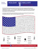 Fourth of July can be a learning experience, when it's filled with fun-to-find, holiday themed words.