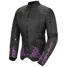Joe Rocket Black Purple Heartbreaker jacket