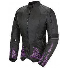 Joe Rocket Black Purple Heartbreaker jacket