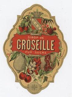syrup vintage Label Sticker