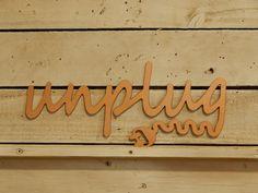 Unplug Metal Sign, Metal Art, Bedroom Decor, Family Room,  Outdoor Wall Art, Kitchen Decor, Metal Sign, Sign, Indoor, Unplug Decor, W1085