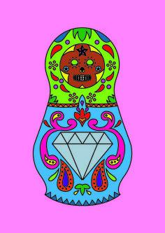 Sugar Matrioshkas #3 Art Print by Filipa Amado