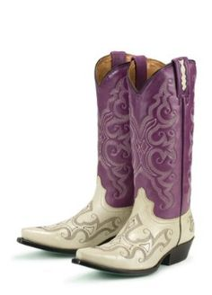 Lane Boots Royalty in Purple Fashion Cowgirl Boots
