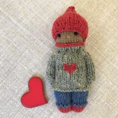 ❤️This Knitty Kid is being donated to an auction being held by which will take place during the second week of November ❤️… Knitted Doll Patterns, Knitted Dolls, Crochet Toys, Knit Crochet, Knitting Patterns, Crochet Pattern, Little Cotton Rabbits, Diy Advent Calendar, Tiny Dolls