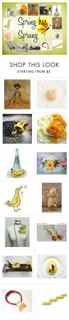 """""""Spring has Sprung: Handmade & Vintage for You"""" by paulinemcewen ❤ liked on Polyvore featuring Grund, rustic and vintage"""