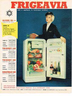 PUBLICITE ADVERTISING 1959 FRIGEAVIA réfrigérateur in Collections, Objets publicitaires, Publicités papier | eBay