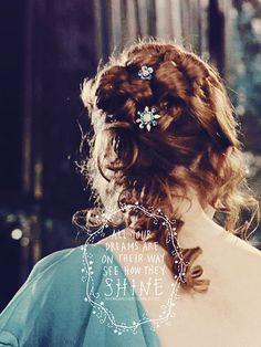 Hermione Granger in her pale blue dress