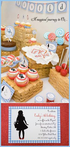 Kate Landers Events, LLC: Wizard of Oz Party and {Surprise Giveaway With The TomKat Studio}! Girl Birthday, Birthday Parties, Birthday Ideas, Birthday Celebration, Theme Parties, Birthday Cards, Lila Party, Dorothy Wizard Of Oz, Dorothy Gale