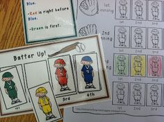 Baseball Math- Batter Up!  A logic game where you have to figure out the batter line up.