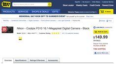 DOTD – Nikon Coolpix P310 Digital Camera Only $149.99 ($180 off)