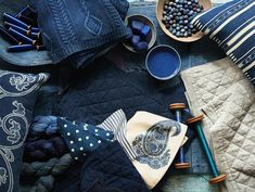 Pottery Barn's Indigo Collection has a calming, tranquil affect. The Domestic Curator