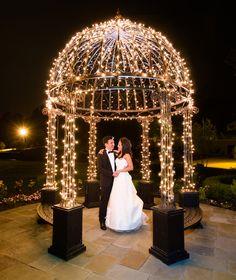 Take time to do night shots at your wedding Falkirk Estate Gazebo Wedding Vail Fucci for Fucci