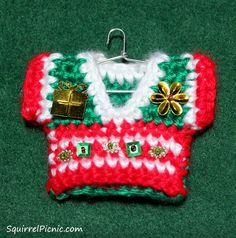 Ugly Sweater Ornament by Squirrel Picnic