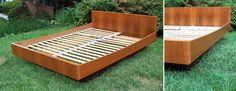 Teak platform bed