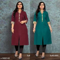 Kurtis & Kurtas Women Cotton Front Slit Solid Kurti Sleeve Length: Three-Quarter Sleeves Pattern: Solid Combo of: Single Sizes: M (Bust Size: 38 in Size Length: 46 in)  Country of Origin: India Sizes Available: M, L, XL, XXL, XXXL, 4XL, 5XL, 6XL   Catalog Rating: ★4 (428)  Catalog Name: Women Cotton Front Slit Solid Kurti CatalogID_887857 C74-SC1001 Code: 305-5880148-8031