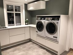 Laundry Room Inspiration, Interior Inspiration, Utility Room Designs, Hanging Canvas, Home Reno, Stacked Washer Dryer, Gallery Wall, Home Appliances, House Design