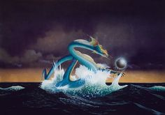 art by Roger Dean  Asia album cover from 1982