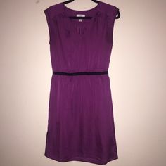 Ann Taylor Loft V-neck Magenta Dress Size 4 Ann Taylor Loft V-neck Magenta Dress Size 4. 100% polyester. Used once Ann Taylor Dresses