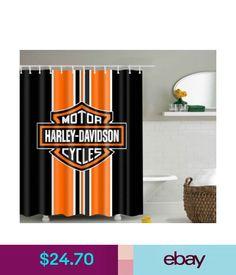 Pin By Sunglasses World On Bathroom Vanities Curtain Harley Davidson Logo Pattern Waterproof