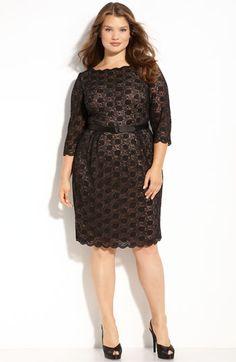 pretty plus size lace dress