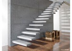Eindruck der Kragstufentreppe aus Beton