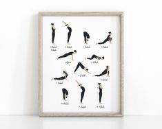 Inhale Exhale Sun Salutation Yoga Print, Instant Download Yoga Poster Yoga Party, Printable Art, Printables, Chakra Art, Surya Namaskar, Inhale Exhale, Yoga Gifts, Party Signs, Sculpture Art