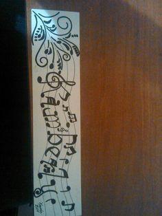 Calligraphy maker, colored pencil