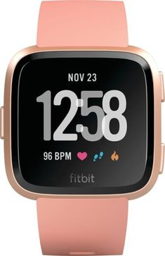 1135a345de9 Fitbit - Versa - Peach Rose Gold - Front Zoom Peach Rose