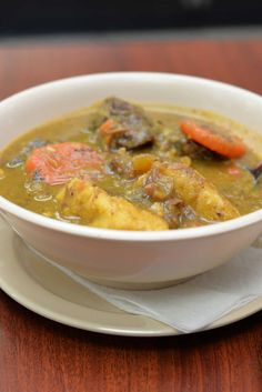 Sanchocho is a hearty soup made with lots of vegetables. Puerto Rican Dishes, Puerto Rican Cuisine, Puerto Rican Recipes, Mofongo Recipe, Pastelon Recipe, Empanadas Recipe, Gourmet Recipes, Soup Recipes, Fried Red Snapper