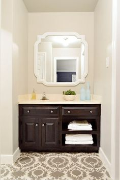 sink nook with great mirror - Young House Love