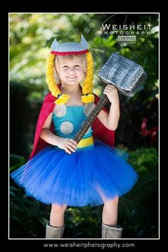 LITTLE THUNDER Thor Inspired Tutu Dress with by goodygoodytutus
