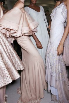 My grandmother had a dress just like this blush pink one, maybe some 40 years ago. She was so stylish.   Zac Posen SS2014