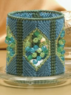 Beaded Votive Cover