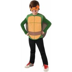 Nickelodeon Teenage Mutant Ninja Turtles Michelangelo Child Dress Up Costume, Boy's, Size: Small
