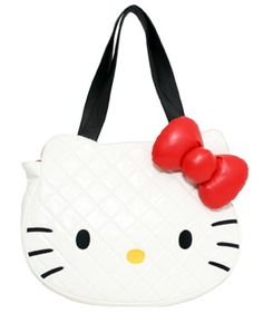 - HELLO KITTY WHITE QUILTED FACE TOTE BAG LOUNGEFLY OFFICIAL WEBSITE     http://www.loungefly.com/Products/Accessories/Bags/HELLO_KITTY_WHITE_QUILTED_FACE_TOTE_BAG.php