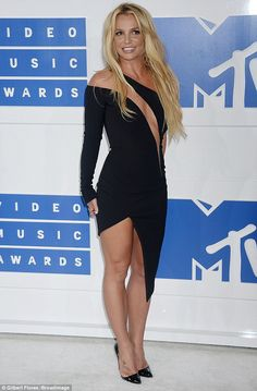 BRITNEY  at 2016 VMA's Fit as a fiddle: The 34-year-old showed off her seriously toned legs in the…