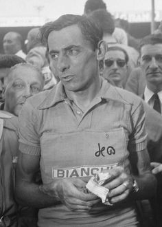 Fausto Coppi in yellow ...