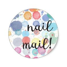 Nail Mail! Sticker - 3.8cm = 20 per sheet by Red Rockets Design