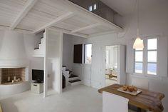 White homes in Santorini