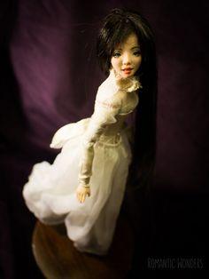 ''Lady'' handmade Ooak doll by Romantic Wonders Ooak Dolls, Cotton Dresses, Silk Dress, Romantic, Lady, Handmade, Silk Gown, Hand Made, Romantic Things