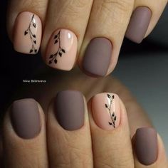 40 Matte Nails That Look Cute For Fall - Herbst nagel farben - Love Nails, Pretty Nails, My Nails, Jolie Nail Art, Manicure E Pedicure, Fall Pedicure, Stylish Nails, Nail Decorations, Beautiful Nail Art