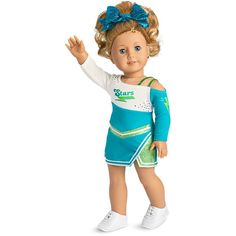 American Girl Competition Cheer Outfit for Dolls American Girl Doll Costumes, American Girl Doll Sets, American Girl Clothes, Girl Doll Clothes, Girl Dolls, Ag Dolls, American Dolls, Girl Clothing, Barbie Doll